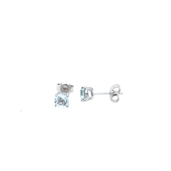 Sterling Silver Genuine Aquamarine Studs Confer's Jewelers Bellefonte, PA