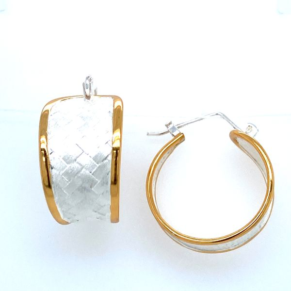 Sterling Silver Basket Hoop Earrings Confer's Jewelers Bellefonte, PA