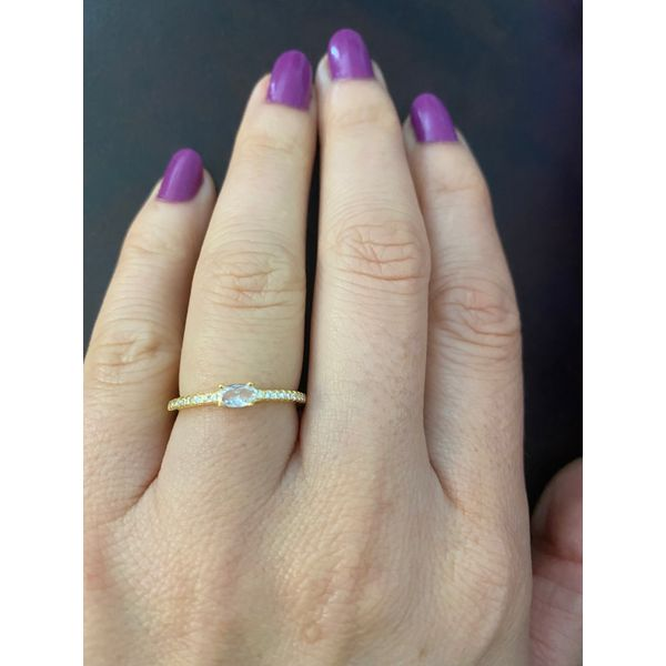 Sterling Silver Yellow Gold Plated Stackable CZ Ring Confer's Jewelers Bellefonte, PA