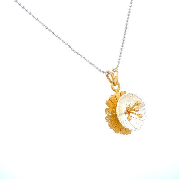 Sterling Silver Flower Necklace Image 2 Confer's Jewelers Bellefonte, PA