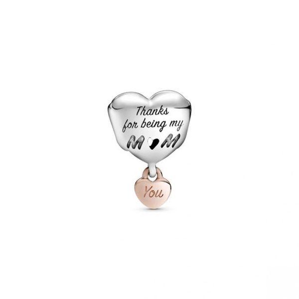 Love You Mom Heart Charm - PANDORA Rose Image 2 Confer's Jewelers Bellefonte, PA