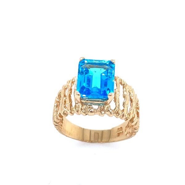 1980's Blue Topaz Cocktail Ring Confer's Jewelers Bellefonte, PA