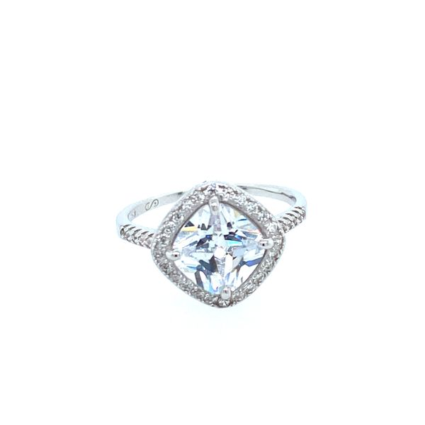 Sterling Silver Halo CZ Ring Confer's Jewelers Bellefonte, PA