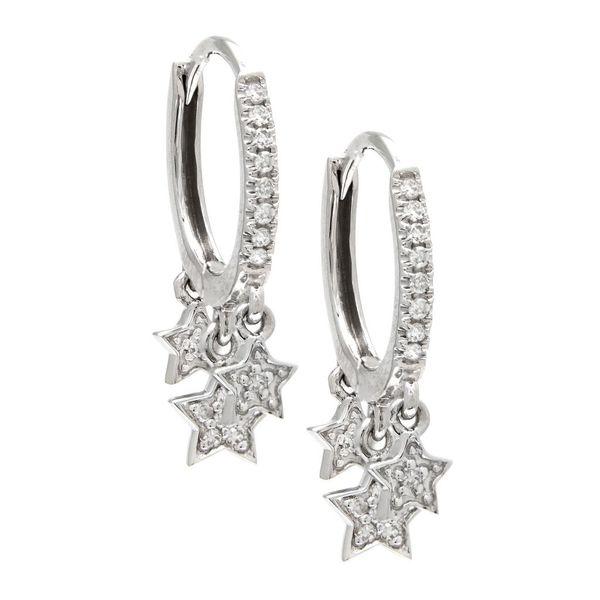 Diamond Star Dangle Hoop Earrngs Confer's Jewelers Bellefonte, PA