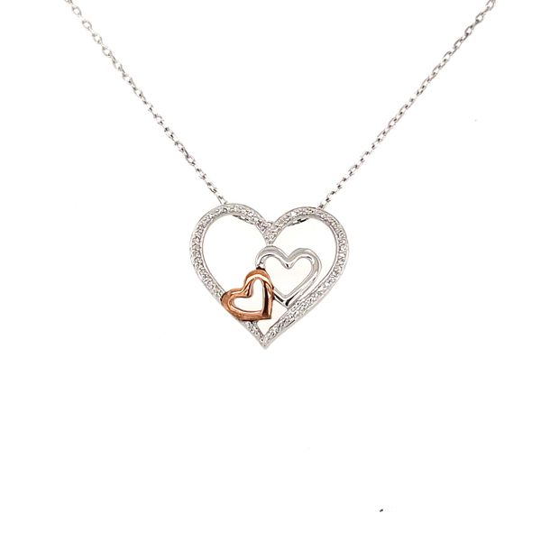 """""""Hope"""" Two Tone Diamond Heart Necklace Confer's Jewelers Bellefonte, PA"""