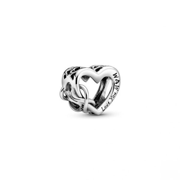 Love You Mum Infinity Heart Charm Confer's Jewelers Bellefonte, PA