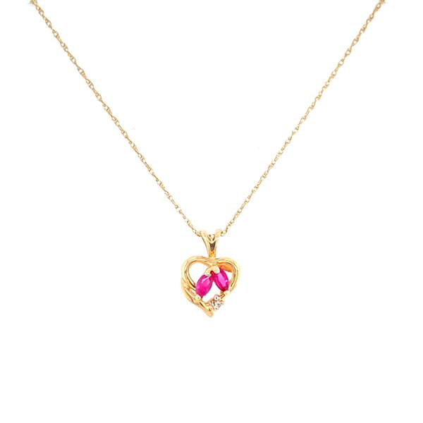 Ruby and Diamond Heart Pendant Confer's Jewelers Bellefonte, PA