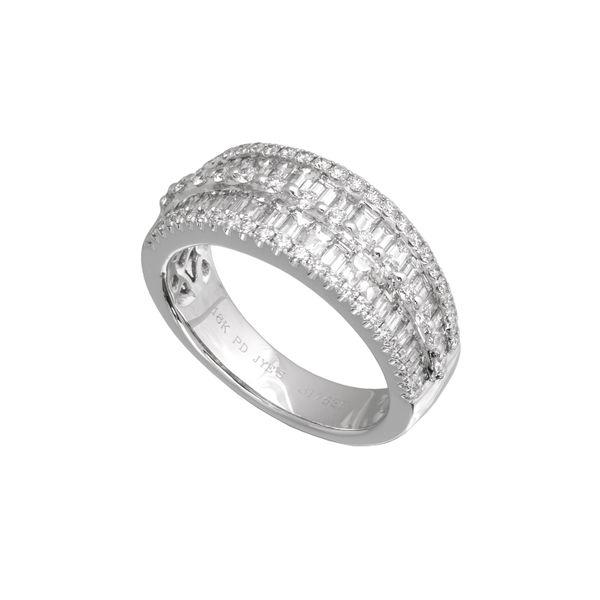 18K White Gold and Palladium Diamond Fashion Ring Confer's Jewelers Bellefonte, PA
