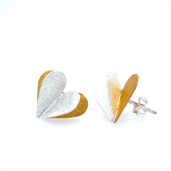 Sterling Silver Heart Earrings Confer's Jewelers Bellefonte, PA