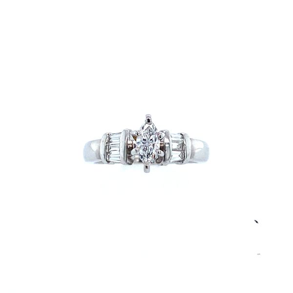 White Gold Marquise Engagement Ring Confer's Jewelers Bellefonte, PA