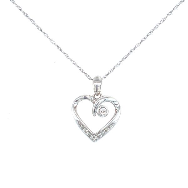 Diamond Heart Necklace Confer's Jewelers Bellefonte, PA