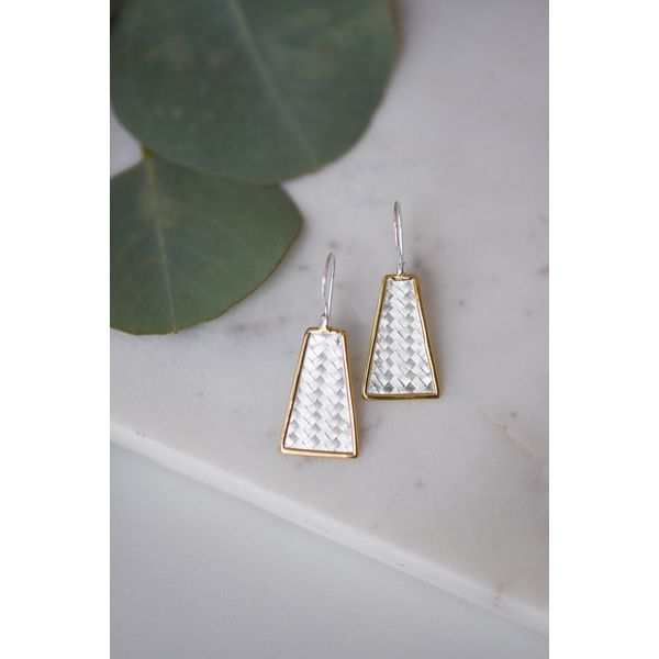 Sterling Silver Handcrafted Woven Earrings Confer's Jewelers Bellefonte, PA