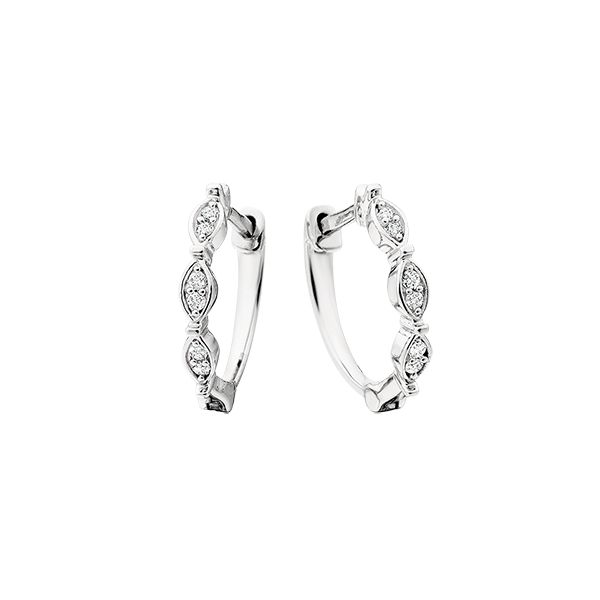 10kt Gold Diamond Hoops Confer's Jewelers Bellefonte, PA