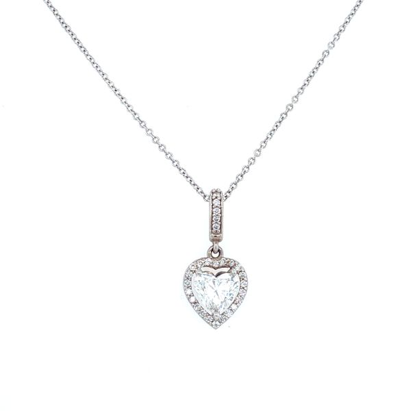 Heart Halo Diamond Necklace Confer's Jewelers Bellefonte, PA