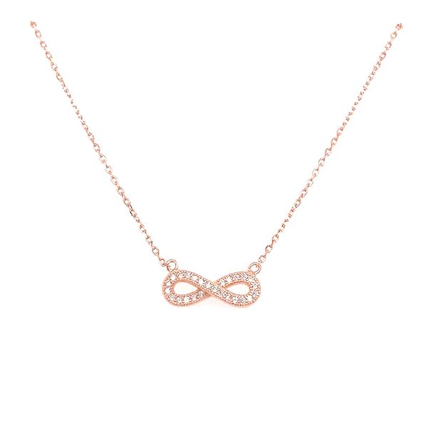 Rose Gold Plated Infinity Pendant Confer's Jewelers Bellefonte, PA