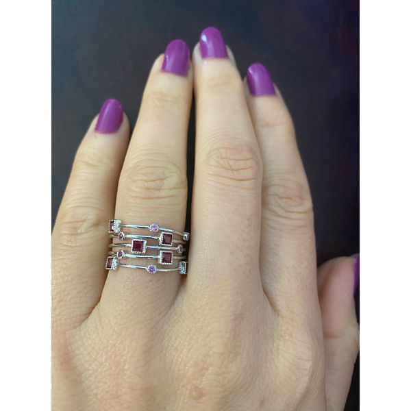 Sterling Silver Red Ice Fashion Ring Confer's Jewelers Bellefonte, PA