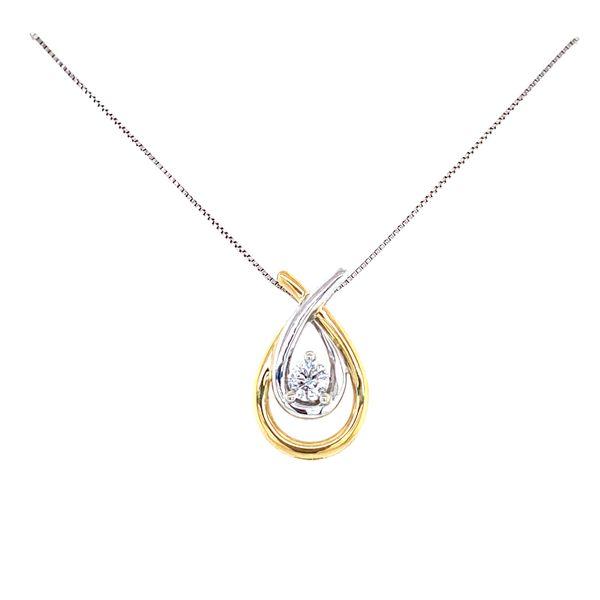 Two Tone Double Hug Diamond Necklace Confer's Jewelers Bellefonte, PA
