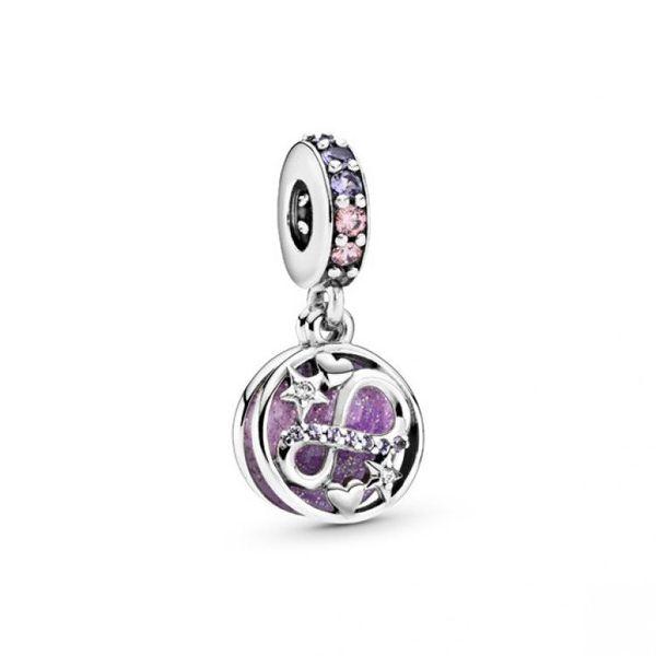 Glittering Infinity Hearts & Stars Dangle Charm Confer's Jewelers Bellefonte, PA