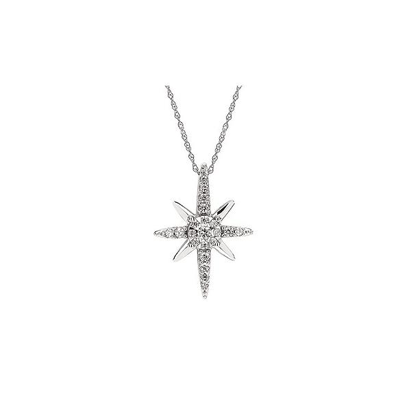 Radiant Diamond Star Pendant Confer's Jewelers Bellefonte, PA
