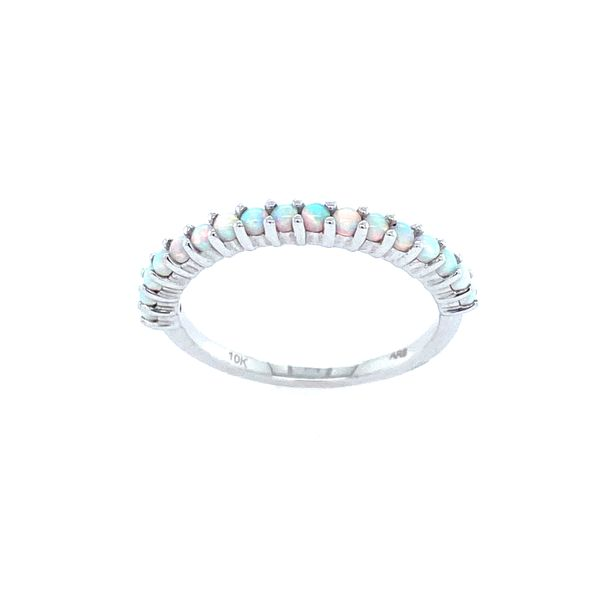 10k White Gold Opal Band Confer's Jewelers Bellefonte, PA