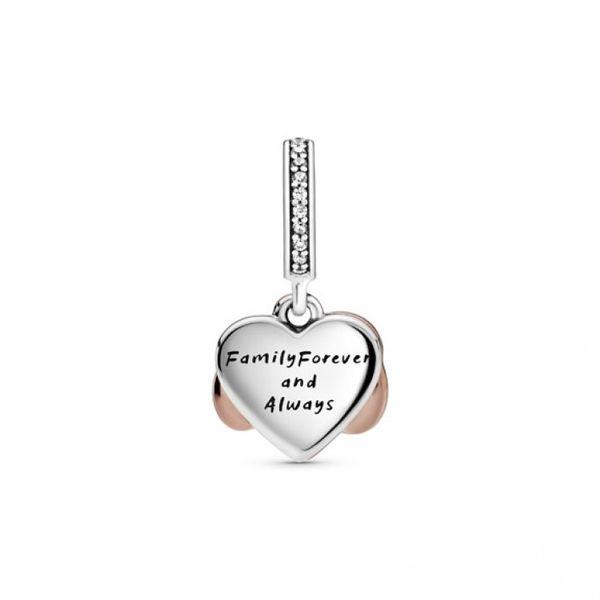 Sparkling Infinity Heart Dangle Charm - PANDORA Rose Image 2 Confer's Jewelers Bellefonte, PA