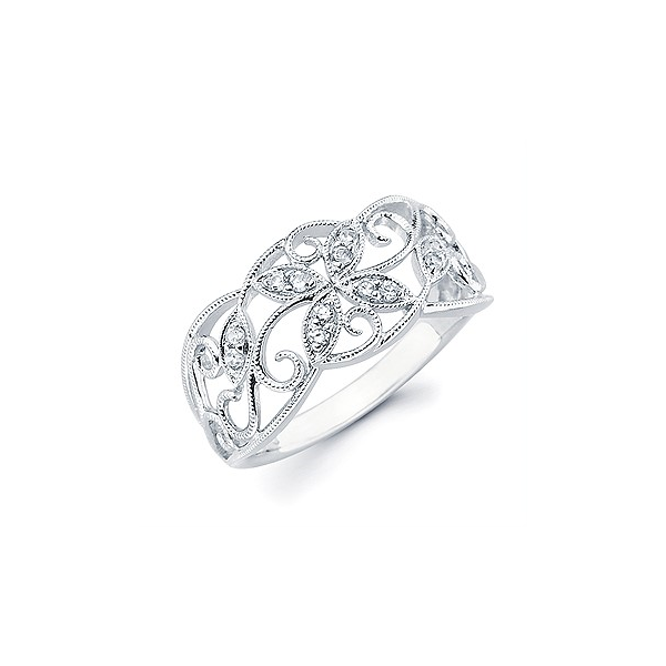 Vintage Style White Gold Fashion Ring Confer's Jewelers Bellefonte, PA