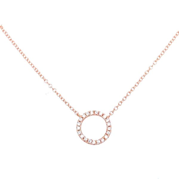 Sterling Silver Circle Necklace Image 3 Confer's Jewelers Bellefonte, PA