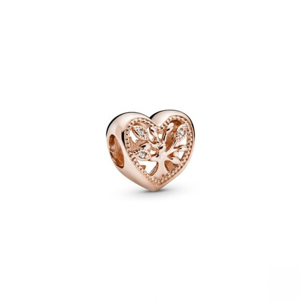 Openwork Family Tree Heart Charm - PANDORA Rose Confer's Jewelers Bellefonte, PA