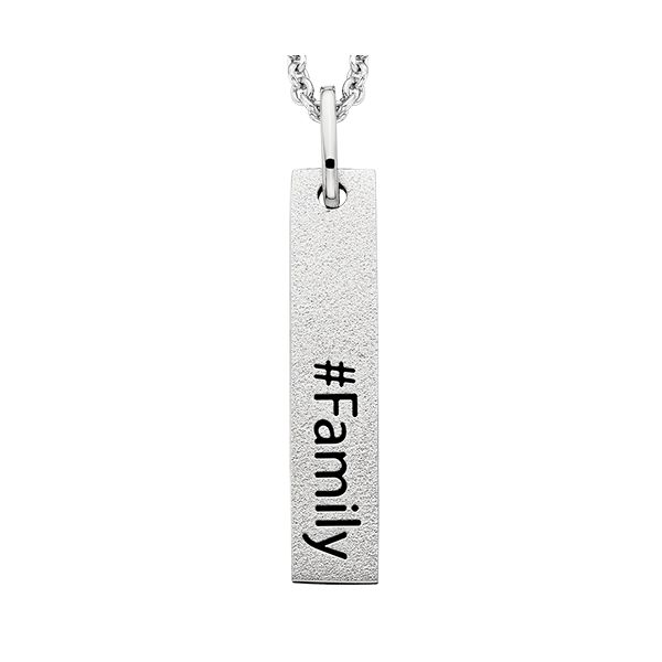 Hashtag Family Pendant Image 2 Confer's Jewelers Bellefonte, PA