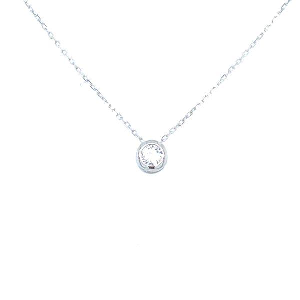 Sterling Silver Bezel Necklace Image 3 Confer's Jewelers Bellefonte, PA