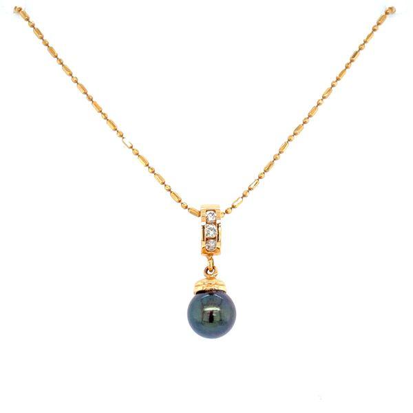 Tahitian Pearl and Diamond Pendant Confer's Jewelers Bellefonte, PA