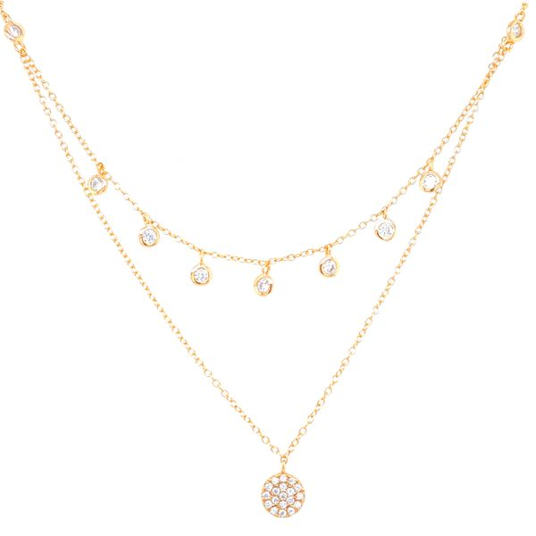 2 Strand Sterling Silver Fashion Necklace Image 3 Confer's Jewelers Bellefonte, PA