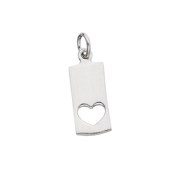 Silver Cut Out Heart Charm Confer's Jewelers Bellefonte, PA