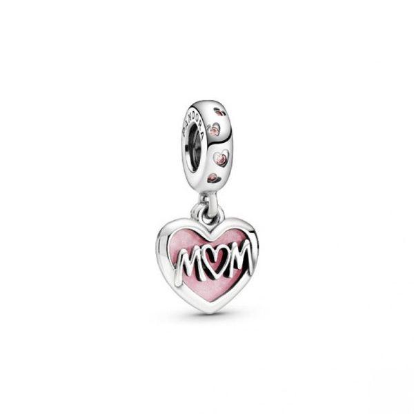 Mom Script Heart Dangle charm Confer's Jewelers Bellefonte, PA