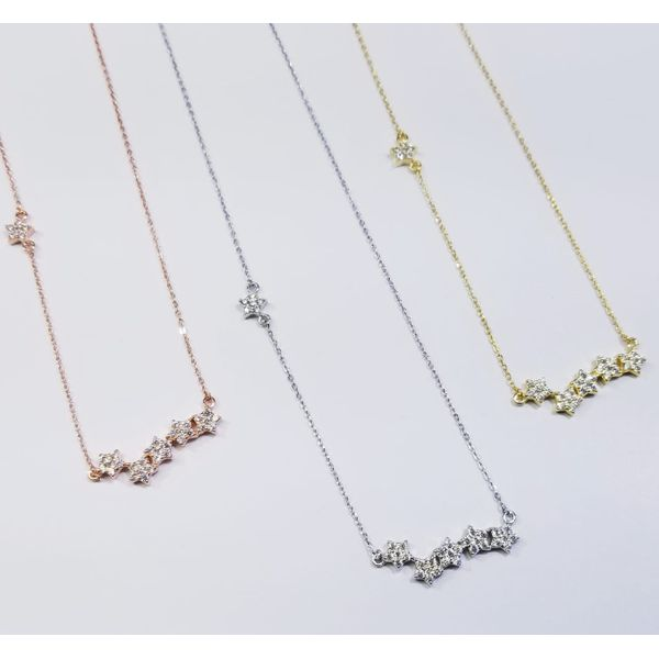 Sterling Silver Rose Gold Plated Star 'Bar' Necklace Confer's Jewelers Bellefonte, PA