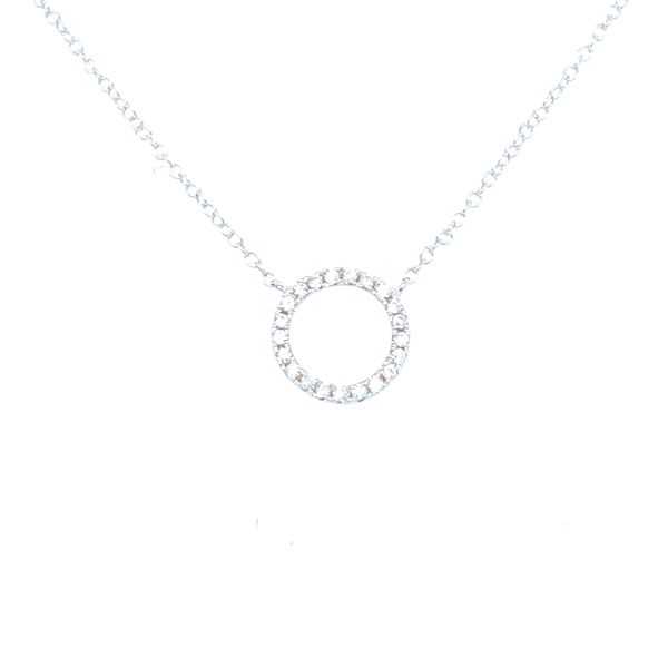 Sterling Silver Circle Necklace Confer's Jewelers Bellefonte, PA