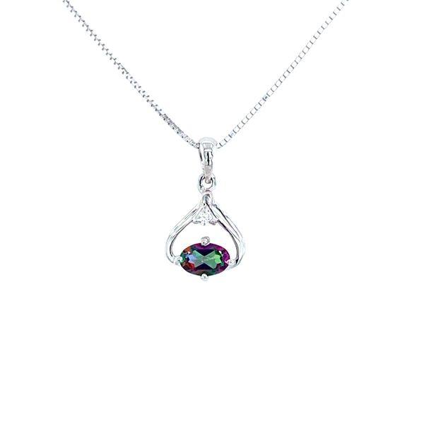 Sterling Silver Mystic Fire Topaz Pendant Confer's Jewelers Bellefonte, PA
