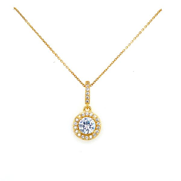 Sterling Silver CZ Halo Necklace Confer's Jewelers Bellefonte, PA