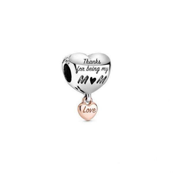 Love You Mom Heart Charm - PANDORA Rose Confer's Jewelers Bellefonte, PA