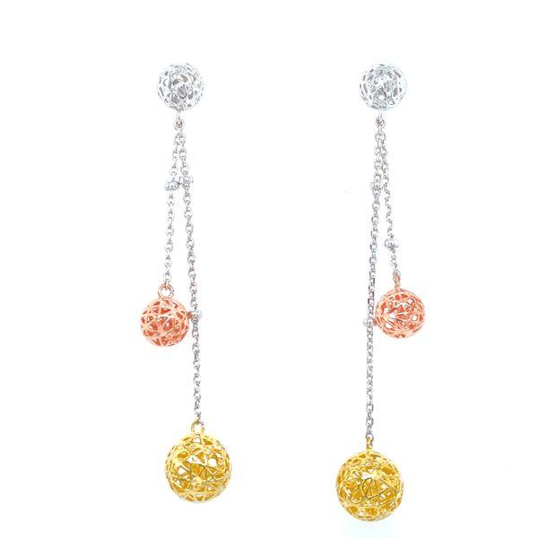 Sterling Silver Tri-Color Dangle Earrings Confer's Jewelers Bellefonte, PA