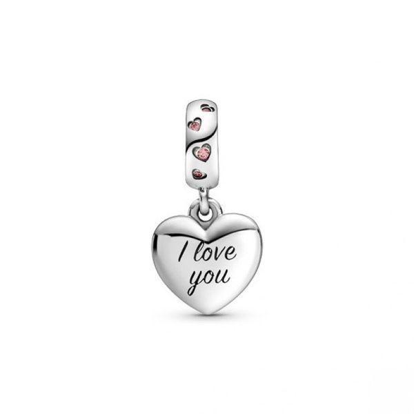 Mom Script Heart Dangle charm Image 2 Confer's Jewelers Bellefonte, PA