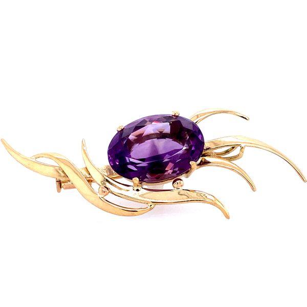 18 karat Amethyst Pin Confer's Jewelers Bellefonte, PA