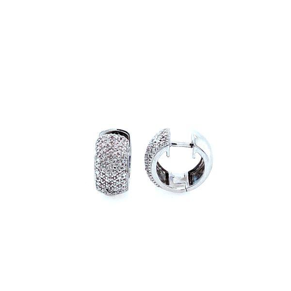 Sterling Silver and Diamond Huggie Hoops Confer's Jewelers Bellefonte, PA