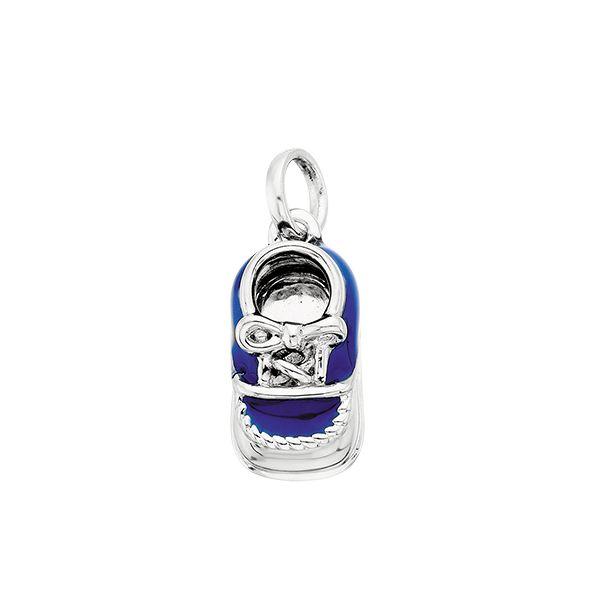 Silver Blue Baby Shoe Confer's Jewelers Bellefonte, PA