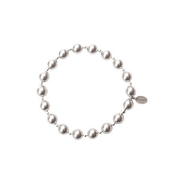 Silver Pearl Count Your Blessings Bracelet Conti Jewelers Endwell, NY