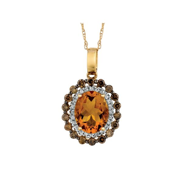CITRINE, DIAMOND & MOCHA DIAMOND PENDANT Cottage Hill Diamonds Elmhurst, IL