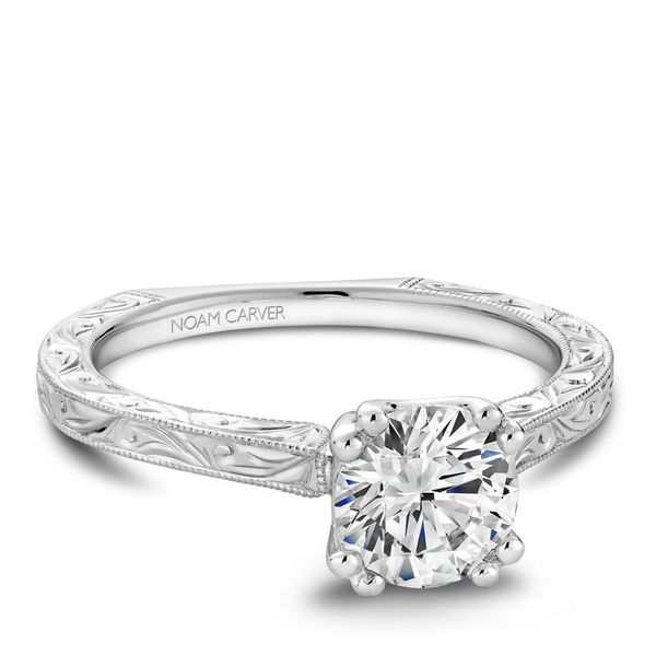 Round Solitaire Diamond Engraved Engagement Ring Cottage Hill Diamonds Elmhurst, IL