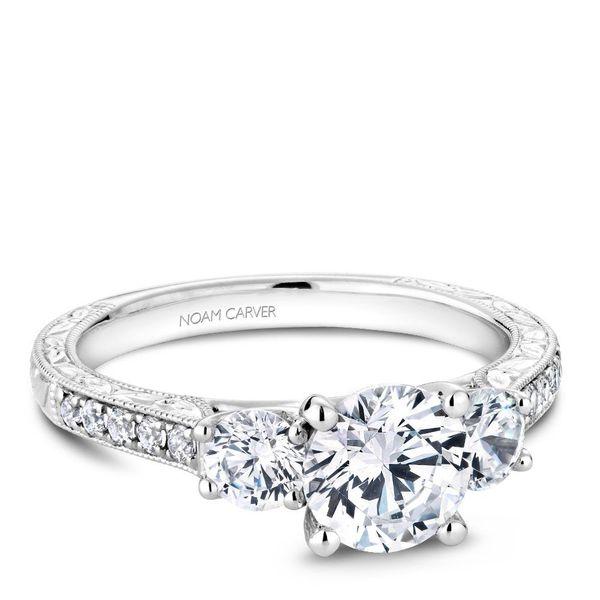 Round Diamond Three Stone Engagement Ring Cottage Hill Diamonds Elmhurst, IL