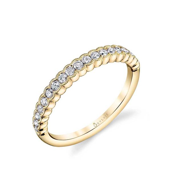YELLOW GOLD STACKABLE WEDDING BAND - ANGELINE Cottage Hill Diamonds Elmhurst, IL