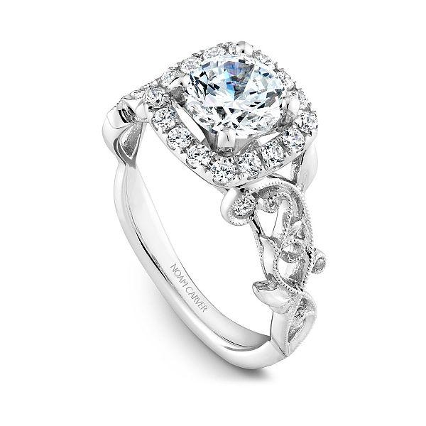 Round Diamond Halo Engagement Ring Image 2 Cottage Hill Diamonds Elmhurst, IL